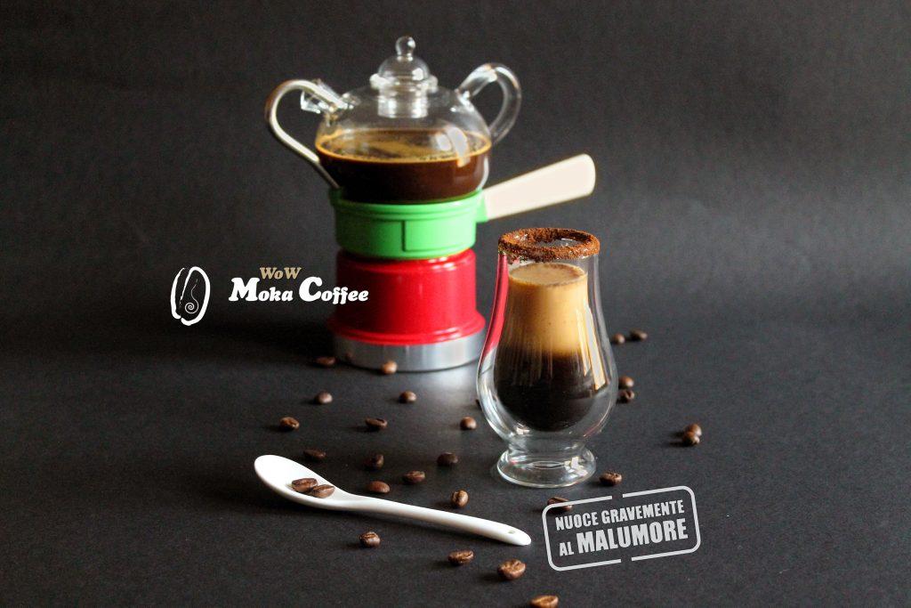 Caffè freddo macchiato al caramello