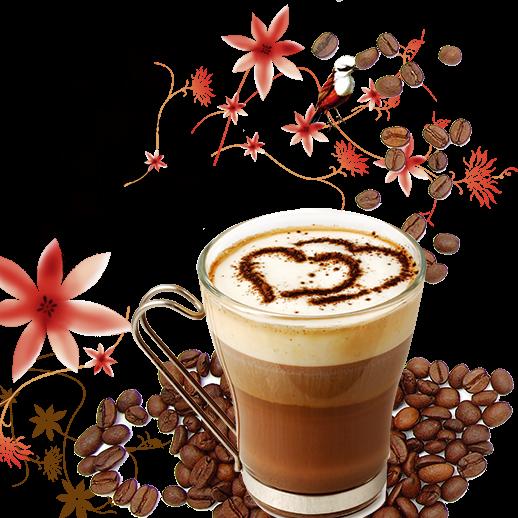 caffè pregiato di qualità in tazzina di vetro