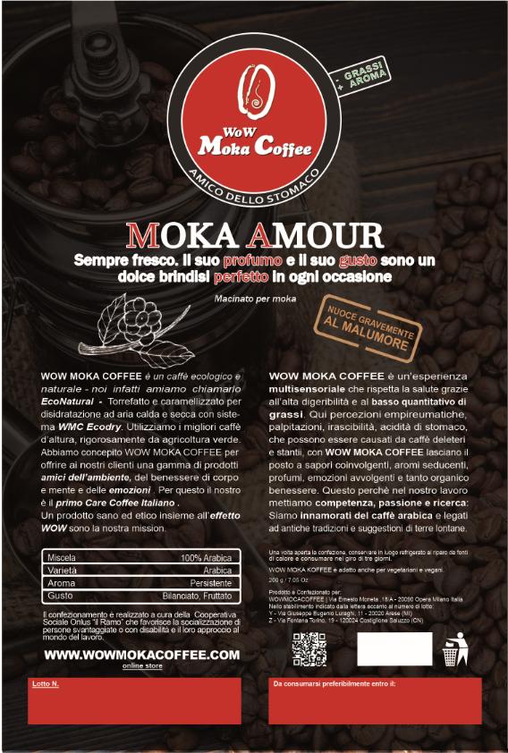 mokamour etichetta prodotto